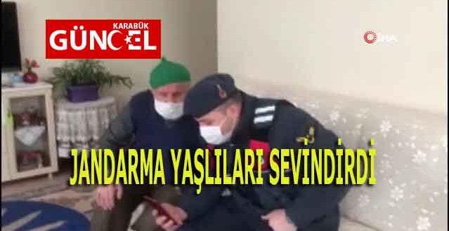 JANDARMA YAŞLILARI SEVİNDİRDİ