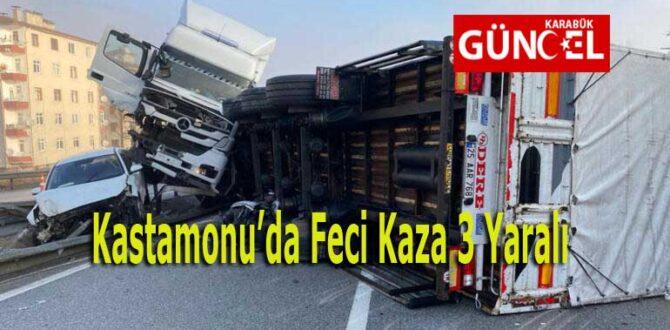 Kastamonu'da Feci Kaza 3 Yaralı