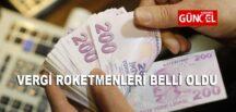 VERGİ REKORTMENLERİ BELLİ OLDU.