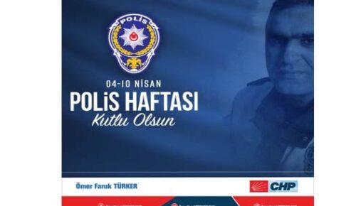 ÖMER FARUK TÜRKER POLİS TEŞKİLATININ 176. YILINI KUTLADI