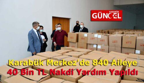"""Vali Gürel, """"Ramazan Ayı Dolayısıyla Karabük Merkez'de 840 Aileye 240 Bin ₺'lik Nakdi Yardım Yapıldı."""""""