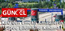 KBÜ'den Emekli Amirallerin Sözde Bildirisine Kınama