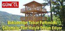 Baklabostan Tabiat Parkındaki Çalışmalar Tüm Hızıyla Devam Ediyor