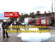 Belediye Personeline Yangın Söndürme Eğitimi