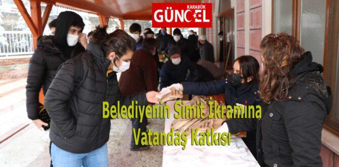 Belediyenin Simit İkramına Vatandaş Katkısı