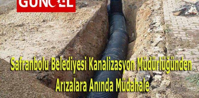 Kanalizasyon Müdürlüğünden Arızalara Anında Müdahale