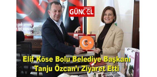 Elif Köse Bolu Belediye Başkanı Tanju Özcan'ı Ziyaret Etti