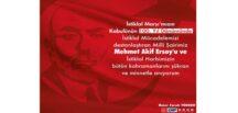 """Ömer Faruk TÜRKER """"MehmetAkif Ersoy'u ve İstiklal Harbimizin bütün kahramanlarını şükran ve minnetle anıyorum""""."""