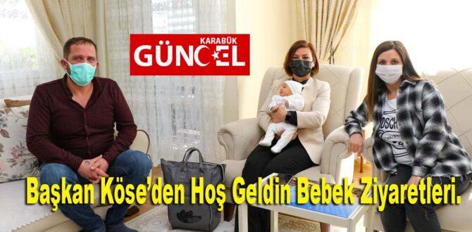Başkan Köse'den Hoş Geldin Bebek Ziyaretleri.