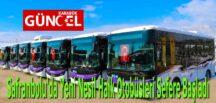 Safranbolu'da Yeni Nesil Halk Otobüsleri Sefere Başladı