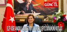 ELİF KÖSE ANADOLU AJANSI'NIN 101. KURULUŞ YIL DÖNÜMÜNÜ KUTLADI