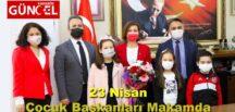 23 Nisan Çocuk Başkanları Makamda