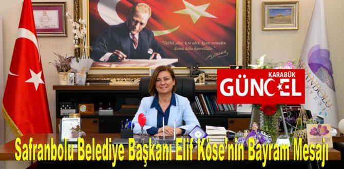 Başkan Elif Köse'nin Bayram Mesajı