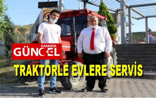 TRAKTÖRLE EVLERE PİDE SERVİSİ