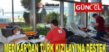 MEDİKAR'DAN TÜRK KIZILAYI'NA DESTEK