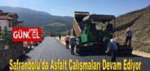 Safranbolu'da Asfalt Çalışmaları Devam Ediyor